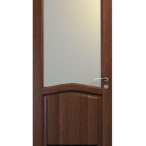 brun dörr med fönster