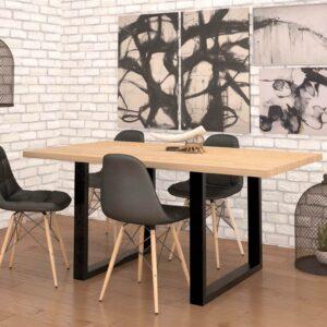 Modern Köksset med bord och stolar loft